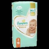 Подгузники Pampers Premium Care, Вес 6–10 кг, Размер 3, 52 шт