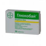 Глюкобай 50 мг, №30, табл.