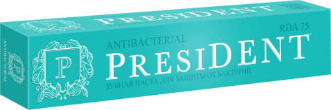 President зубная паста Antibacterial для защиты от бактерий 50 мл