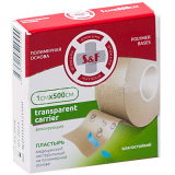 Лейкопластырь S&F Transparent 1х500см