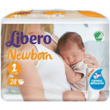 LIBERO Newborn 1 2-5кг 28шт