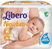 LIBERO Newborn 2 3-6кг 36шт