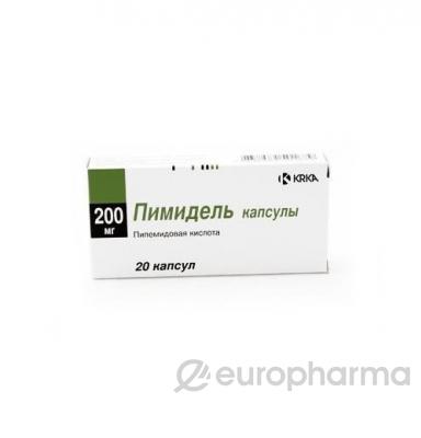 Пимидель 200 мг, №20, капс.