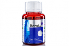 "Рыбий жир + черный тмин Baraka* ""OMEGA""  90 капсул по 730 мг."
