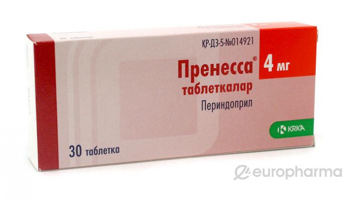 Пренесса 4 мг, №30, табл.