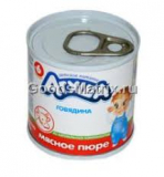 "Пюре мясное ""Агуша"" 5,9% 0,1кг Говядина"