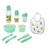 Крошка Я Набор подарочный детский 10 предметов, зеленый, большая бутылка 2849358
