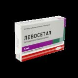 Левосетил 5 мг № 20 табл