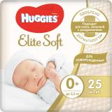 Huggies подгузники Elite Soft 0+ (до 3.5 кг) № 25 шт