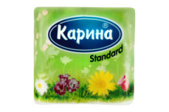 Карина бумага Standard туалетная двухслойная № 4 шт