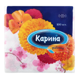 Карина салфетки с рисунком № 100 шт