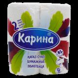 Карина полотенце бумажные 14 метров № 2 шт