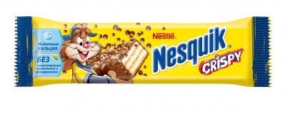 Nestle конфета Nesquik Crispy с хрустящей вафлей 22 г