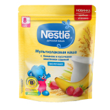 Nestle каша мультизлаковая с бананом  молочная для детей с 8 месяцев 220 г