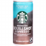 Starbucs кофейный напиток Doubleshot Espresso без сахара молочный 200 мл