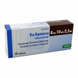 Ко-Амлесса 8 мг/10 мг/2,5 мг № 30 табл