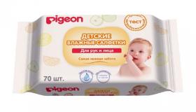 Pigeon салфетки влажные детские для рук и рта  № 70 шт