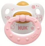 Nuk пустышка Baby&Rose Classik  для детей от 6 до18 месяцев латексная розовая