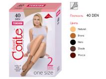 Conte носки TENSION 40Den 23-25 Nero женские № 2 шт