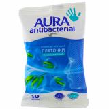 Aura платочки с эвкалиптом антибактериальные № 10 шт