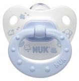 NUK Пустышка 0-6 м силикон Classik Baby Blue