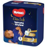 Huggies трусики Elite soft 5 (12-17кг)  №17 ночные