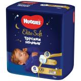 Huggies трусики Elite soft 6 (15-25кг)  №16 ночные