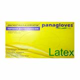 Перчатки диогностические н/ с латексные гладкие опудренные Panagloves раз 7-8 (М)