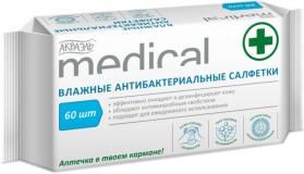 """ЗетТек АКВАЭЛЬ """"MEDICAL"""" антибактериальные  60 шт"""