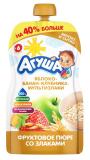 Агуша пюре яблоко-банан-клубника-злаки для детей с 6 месяцев 130 г