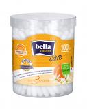 Bella Cotton Care палочки ватные 100 шт круглая коробка апельсин