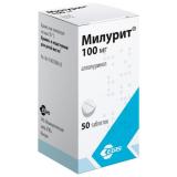 Милурит (аллопуринол) 100 мг № 50 табл