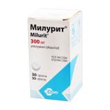 Милурит (аллопуринол) 300 мг № 30 табл