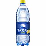 Tassay вода газированная 1,0 л лимон