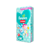 Подгузники–трусики PAMPERS Pants Малышарики, Вес 9–15 кг, Размер 4, 54 шт