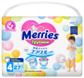 Merries трусики для детей 9-14 кг L  № 27 шт