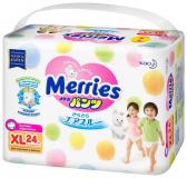 Merries труссики для детей 12-22 кг XL  № 24 шт