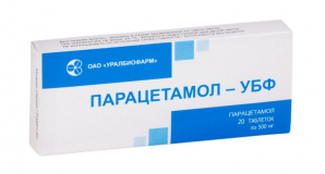 Парацетамол-УБФ 500 мг № 20 табл