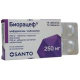 Биорацеф 250 мг № 14 табл