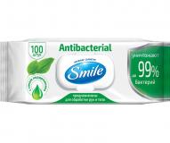Smile Салфетки Влажные  с витаминами  антибактериальные № 100 шт