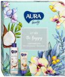 Aura Подарочный набор Be Happy Крем-гель для душа Кокос и миндаль 250мл+Крем для рук  восстанавливаю