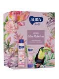 Aura крем-гель для душа Сливочная ваниль и Пион 250мл+Крем для рук  75мл  тонизирующий