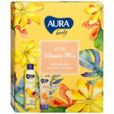 Aura VITAMIN MIX Гель для душа Манго и папайя 250мл+Крем для рук 75мл  питательный