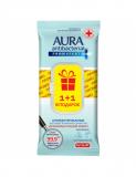 Aura влажные салфетки для поверхностей PRO EXPERT изопропиловый спирт ПРОМО big-pack 24+24шт