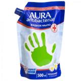 Aura  FAMILY Жидкое мыло семейное  дой-пак 500+500мл  антибактериальные