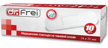 Dr.Frei медицинский нетканный пластырь в рулоне №10,  (19mm х 72mm)