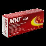 МИГ  400 мг № 20 табл п/плён оболоч