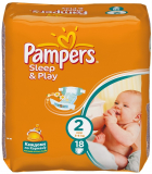 Pampers подгузники Sleepplay SSMAX S2 8*18 RC 81074042
