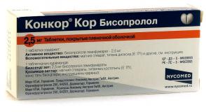 Конкор Кор 2,5 мг, №30, табл.