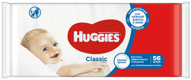 Huggies салфетки Wipes Tier classic   56 шт